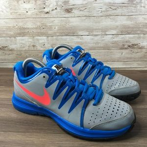 Nike Vapor Court Gray Blue Tennis Shoe